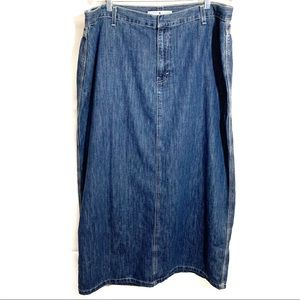 Tommy Hilfiger Woman Denim Skirt Zip Front Size 18
